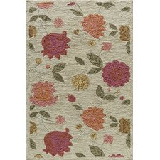 Summit Bold Floral Oatmeal Area Rug