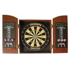 Wellington Bristle Dartboard with Arch Cabinet