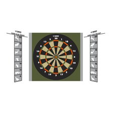 Hunt Club Steel Tip Dartboard Game Station