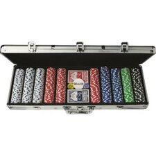 500 pc Poker Chips Set with Case