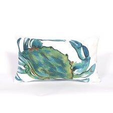 Visions III Blue Crab Lumbar Pillow