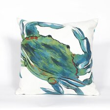 Visions III Blue Crab Throw Pillow