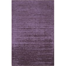 Haize Lavender Purple Solid Area Rug