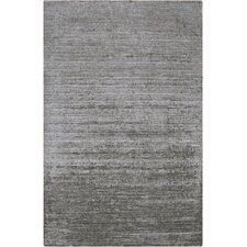 Haize Light Gray Solid Area Rug