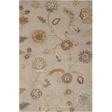 Sprout Taupe Gray Floral Rug