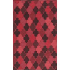 Nia Burgundy Geometric Area Rug
