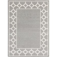 Horizon Gray & Ivory Geometric Area Rug