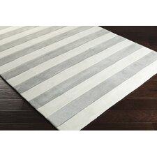 Cosmopolitan Ivory/Gray Stripe Area Rug