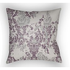 Moody Damask Throw Pillow