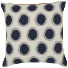 Pretty Polka Dot Linen Throw Pillow