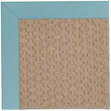 Zoe Grassy Mountain Machine Tufted Bright Blue/Brown Area Rug