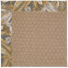 Zoe Grassy Mountain Machine Tufted Crystal Blue and Beige Area Rug