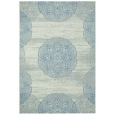 Elsinore Blueberry Mandala Outdoor Area Rug