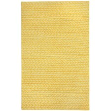 Spear Yellow Area Rug