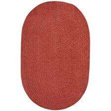Custom Classics Oval Braided Red Area Rug