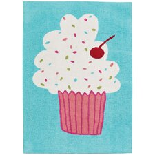 Hable Construction Confectionary Cake Pops Machine Tufted Area Rug