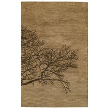 Desert Plateau Tree Bark Shadow Branch Area Rug