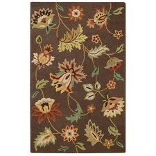 Garden Flowers Chocolate Area Rug