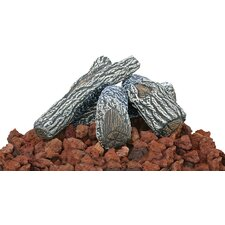 Lava Rock and Log Kit For Outdoor Fire Pits