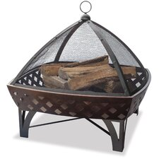 Bronze Outdoor Firebowl with Lattice