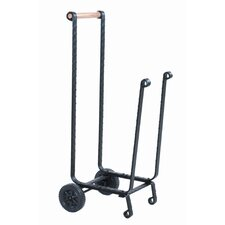 Wrought Iron Log Rack with Wheels