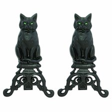 Cat Andirons (Set of 2)