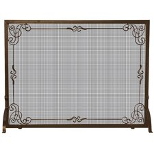 1 Panel Bronze Fireplace Screen