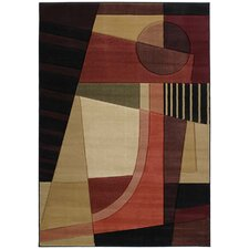 Contours Urban Angles Red Rug