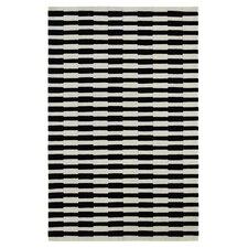 Aria Striped Ivory/Black Area Rug