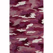 Fantasia Cool Girlzz 1709-200 Pink Army Wool Rug