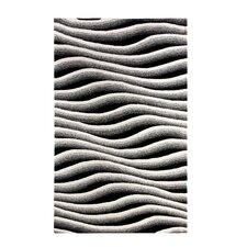 Aria Wave Ivory/Black Area Rug