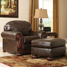 Rodlann Arm Chair and Ottoman