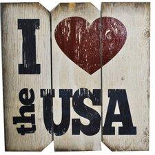 I Love the USA Wall Décor