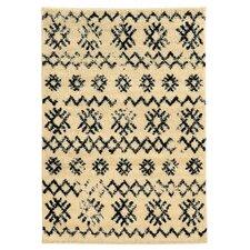 Moroccan Mekenes Ivory & Black Area Rug