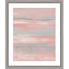 Blush Framed Painting Print