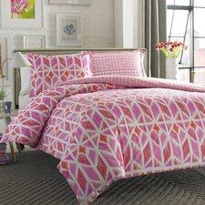 Iris Pink Reversible Comforter Set