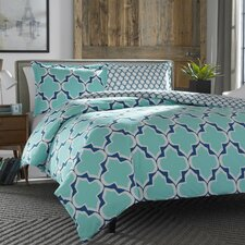 Rhea Teal Reversible Comforter Set