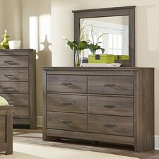 Hayward 6 Drawer Dresser with Mirror