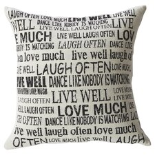 Laugh Often Feather Filled Throw Pillow