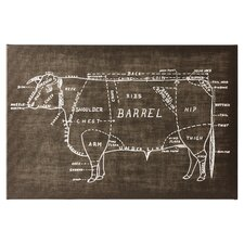Beef Chalk Graphic Art on Wrapped Canvas