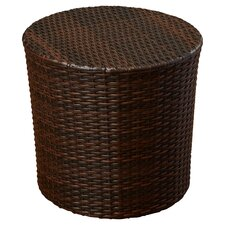 Wicker Barrel Side Table