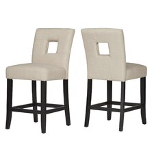 "Dyonisia 24"" Bar Stool (Set of 2)"