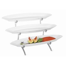 Oval Porcelain 3 Step Tier Stand
