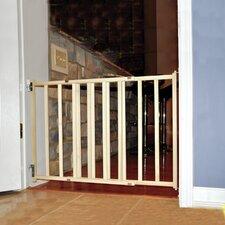 GuardMaster III Wood Slat Walk-Thru Pet Gate