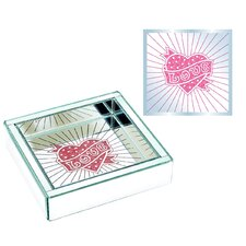 Square Heart Design Jewelry Tray