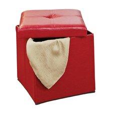 Single Folding Upholstered Storage Ottoman