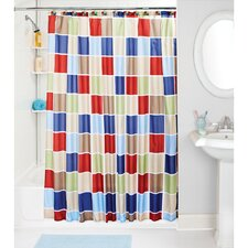 Colored Tile Shower Curtain Set