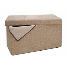 Double Folding Upholstered Storage Ottoman