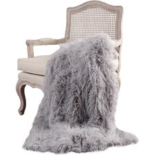 Mongolian Lamb Faux Fur Throw Blanket