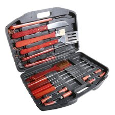 18 Piece Stainless Steel Grilling Tool Set